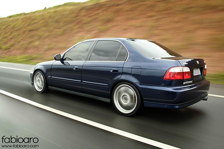 civic ex rolling shot photo blue