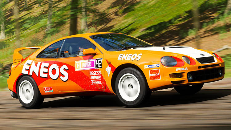 eneos livery toyota celica st205 rolling shot