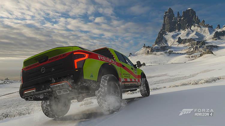nissan titan rescue offroad snow forza horizon 4