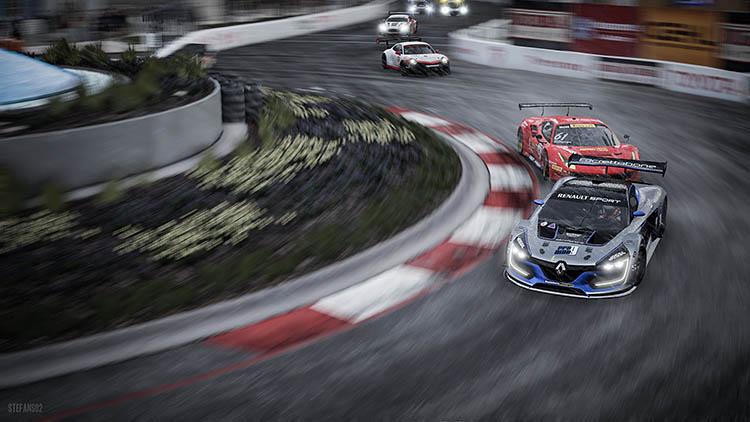 renault ferrari porsche bend corner race racing