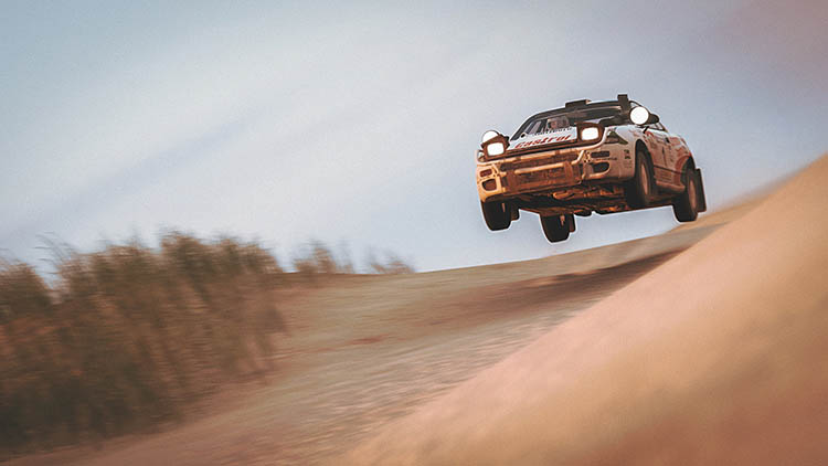 toyota celica s185 group a rally gt four offroad jump