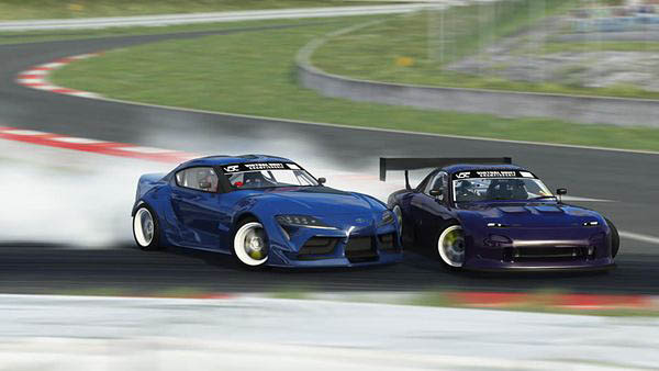 vdc virtual drift championship battle tandem drift train