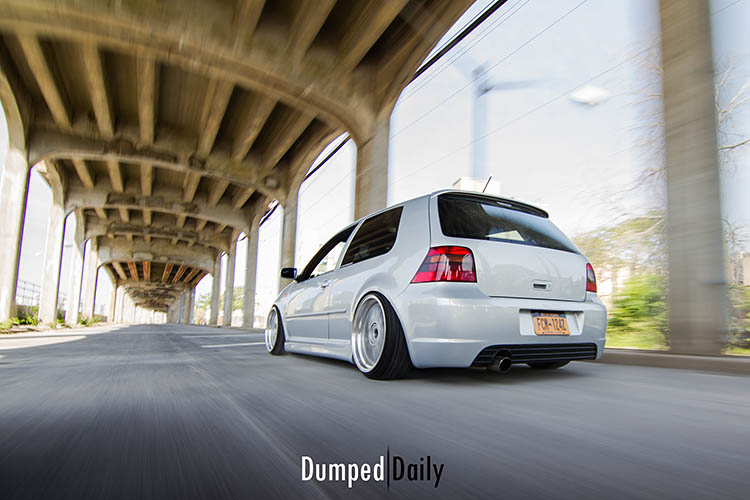 vw golf mk4 rolling shot