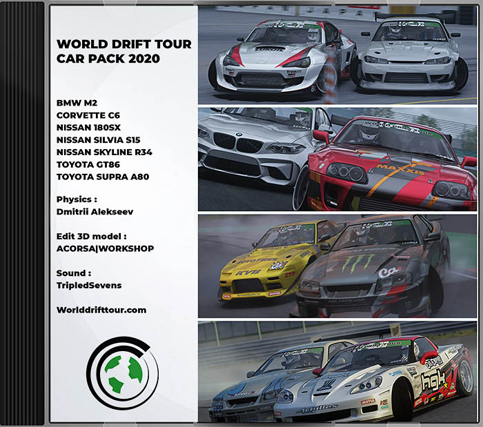 wdt world drift tour car pack