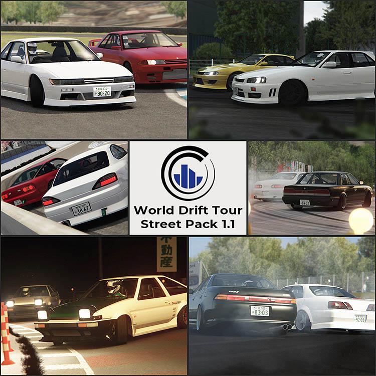 wdt world drift tour street car pack