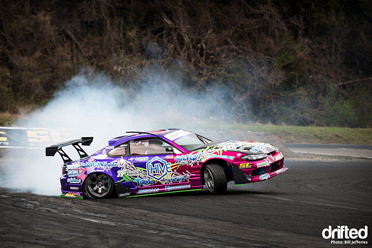 naoki nakamura wheelie nikko circuit japan drift nissan silvia s15