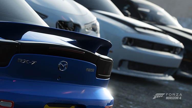 mazda rx7 fd blue stock
