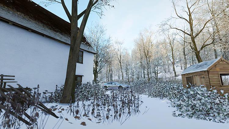 porsche snow scene awd 4 door
