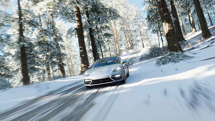 posche snow road