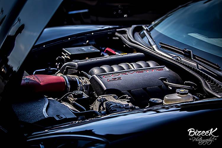 engine bay shot chevy corvette