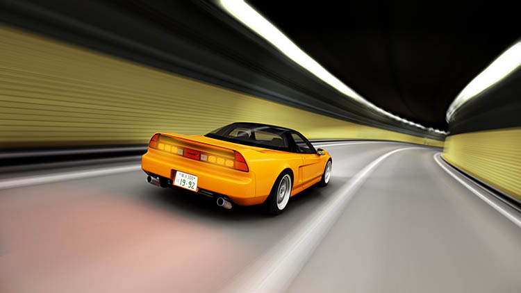 honda nsx tunnel rolling shot