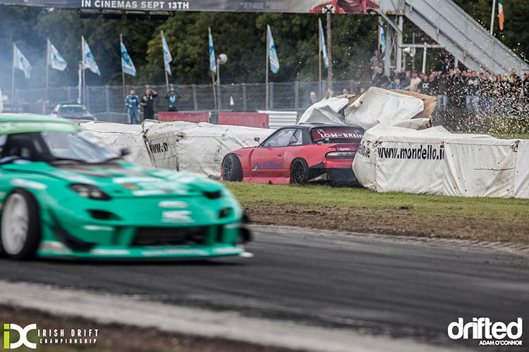 mondello park idc irish drift championship nissan silvia ps13 low brain james deane rx7