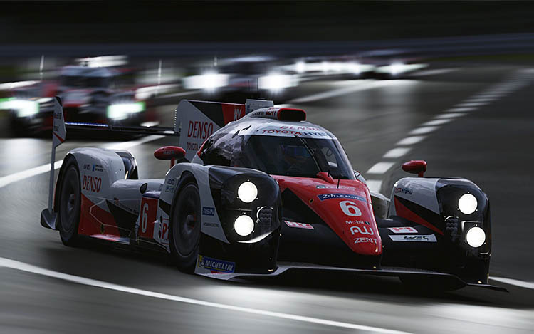 toyota ts050 hybrid race racecar