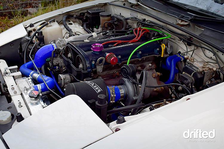 turbo kit turbocharged miata engine bay forced induction