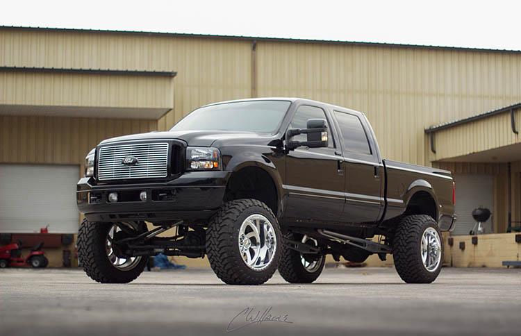 ford-black pickup truck 6.0 powerstroke
