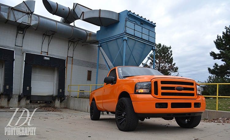 ford pickup truck orange 6.0 powerstroke