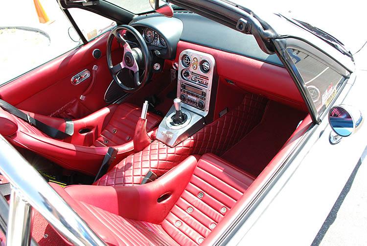 miata red leather interior