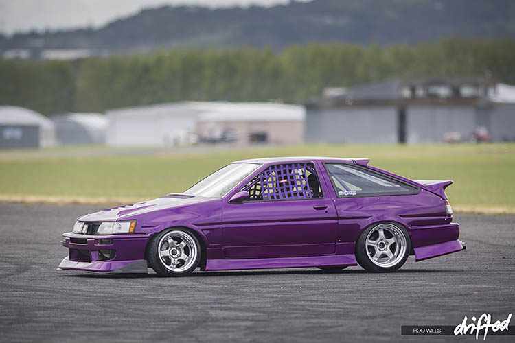 rotary ae86 corolla parked offside