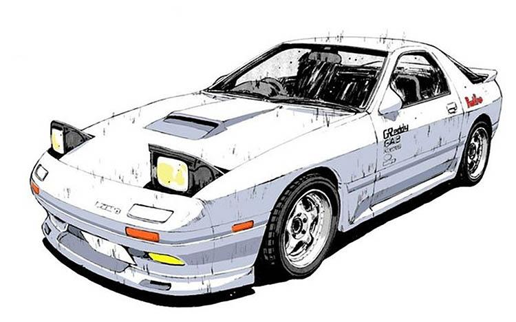 ryosuke takahashi white rx7 fc