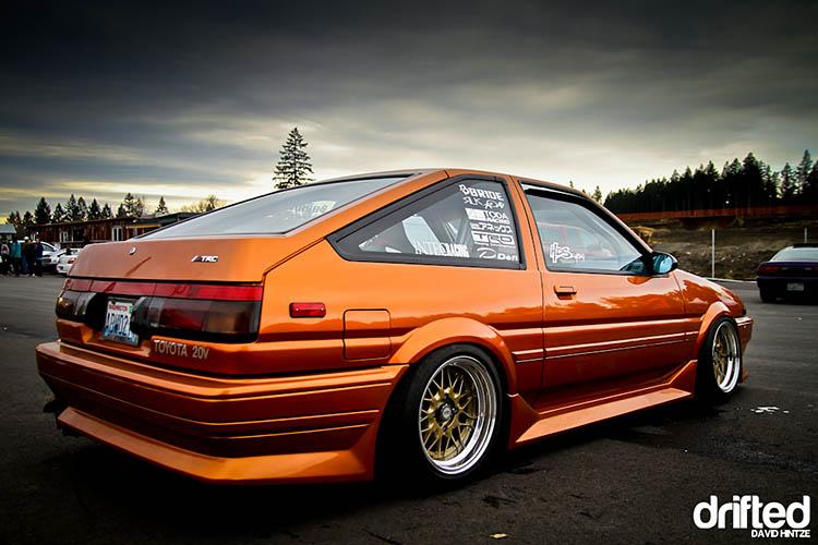 tuned ae86 twincam bronze orange