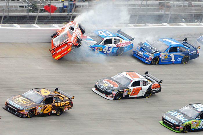 joey logano car wreck crash race racing