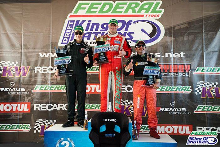 king of nations podium drift drifting