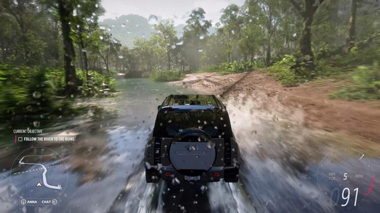land rover defender water river rainforest off road