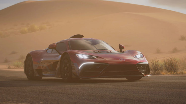 mercedes amg project one sunset lighting
