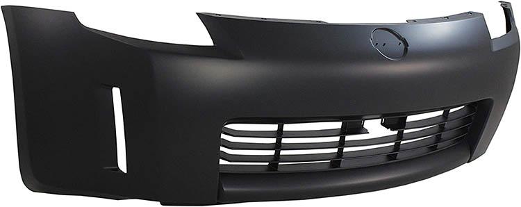 oem black primer front bumper nissan