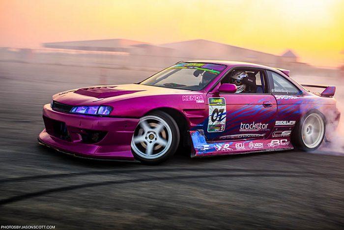 purple blue nissan 240sx 2jz drift drifting sunset smoke
