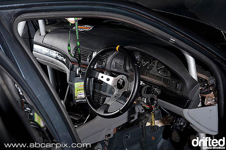 black interior racing wheel