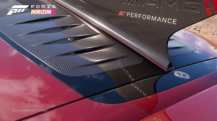 detail shot graphics carbon fiber mercedes amg project one