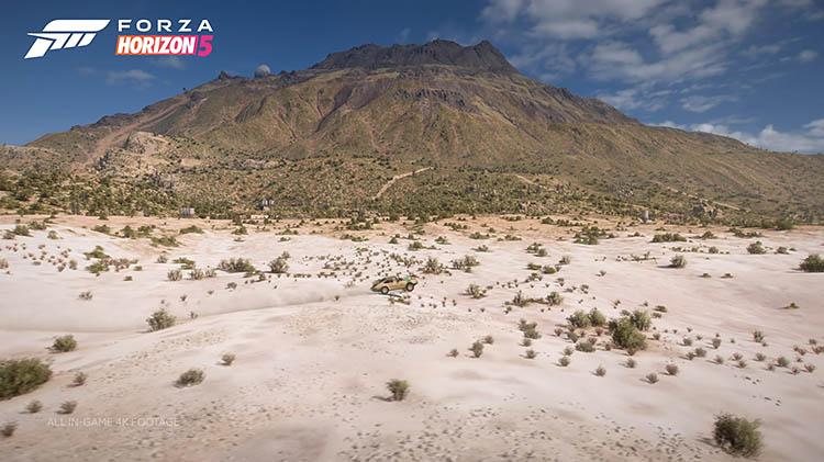 porsche off road jump desert scenery mexico