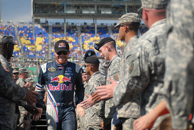 red bull athlete brian vickers soldiers army introduction