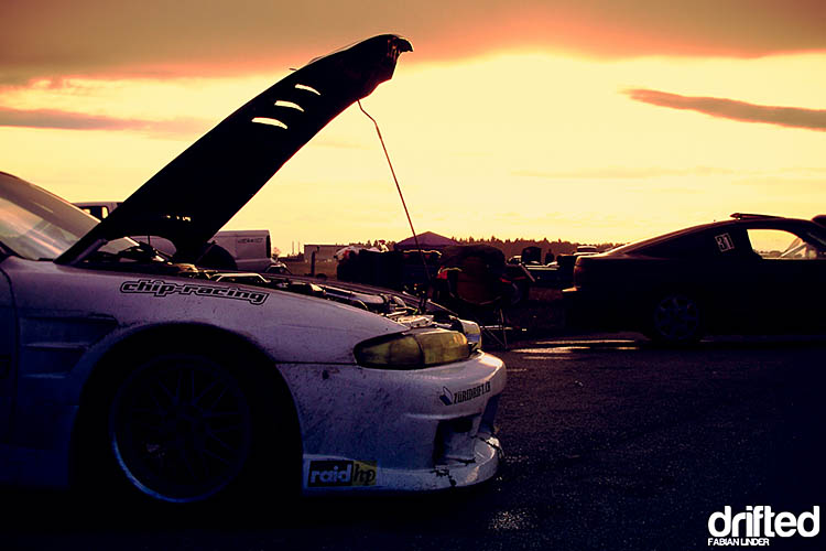 sunset nissan skyline r33