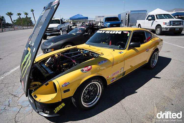 yellow datsun 240z street driven tours finale