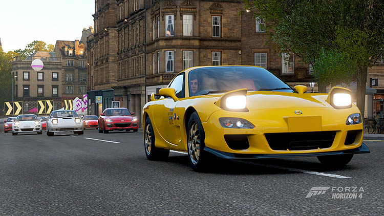 yellow mazda rx7 fd rotary power rx8 fc