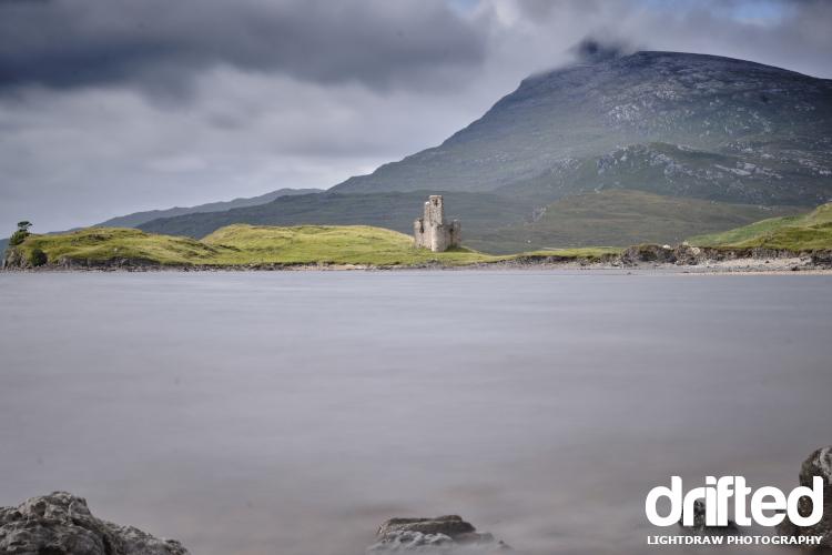 scottish loch with castle