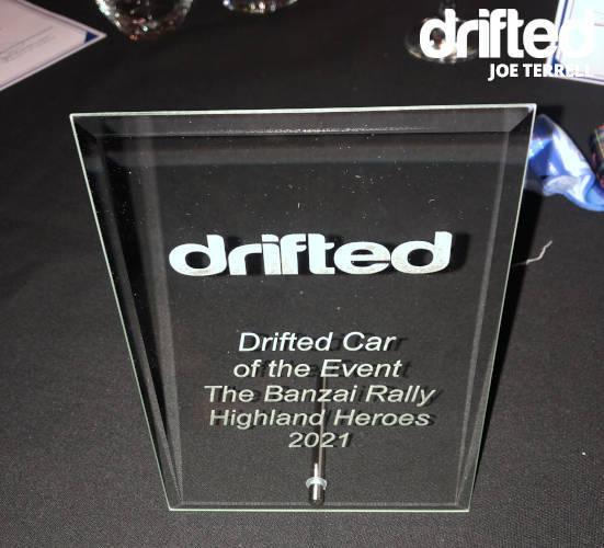 Drifted car of tour award