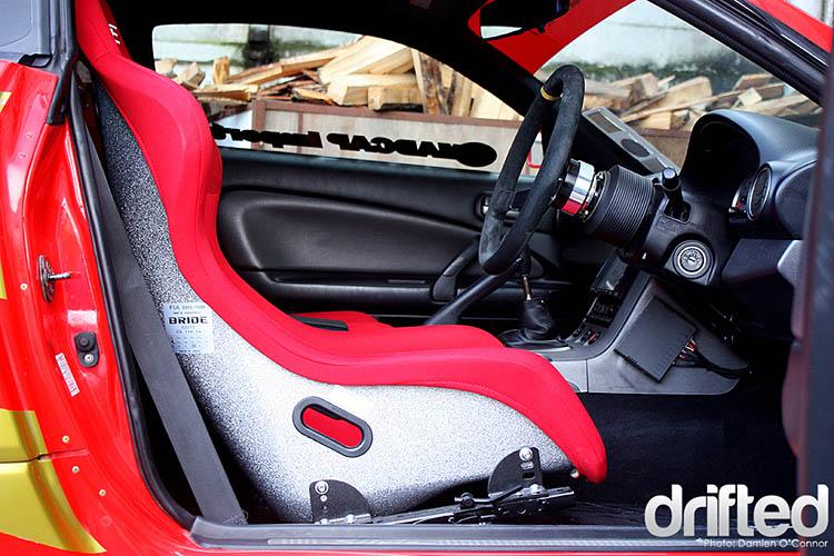 red nissan s15 interior zeta glitter back