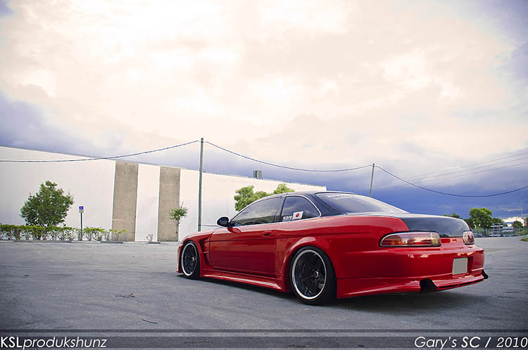 red widebody wide body wide arch jdm