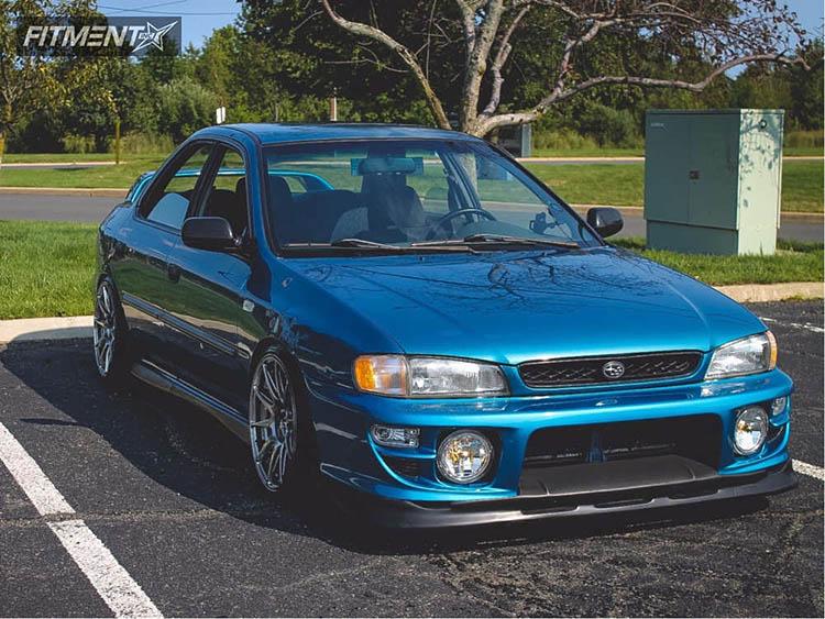 blue 1997 impreza bc racing coilovers xxr 527 anthracite