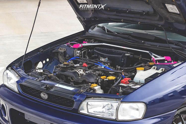 engine bay 2000 impreza subaru rs raceland coilovers konig hypergram gunmetal