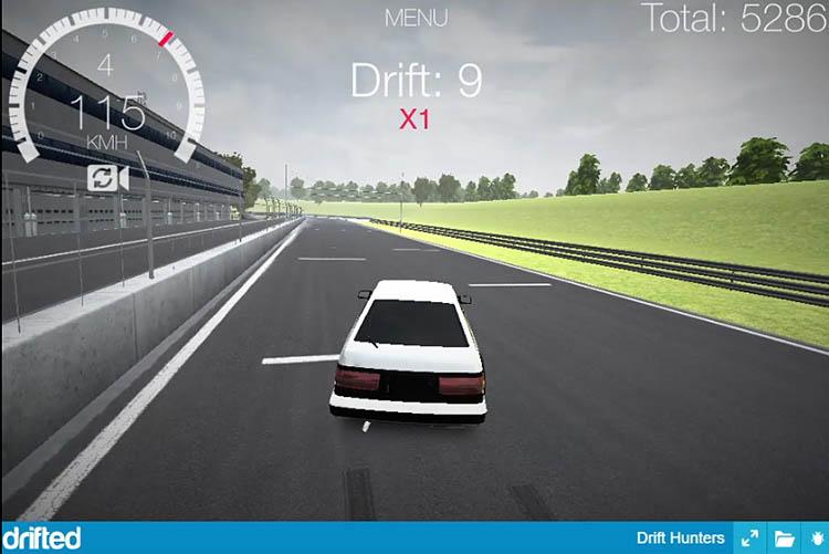 exit drifting toyota ae86