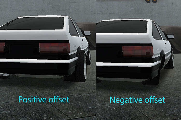 rear offset