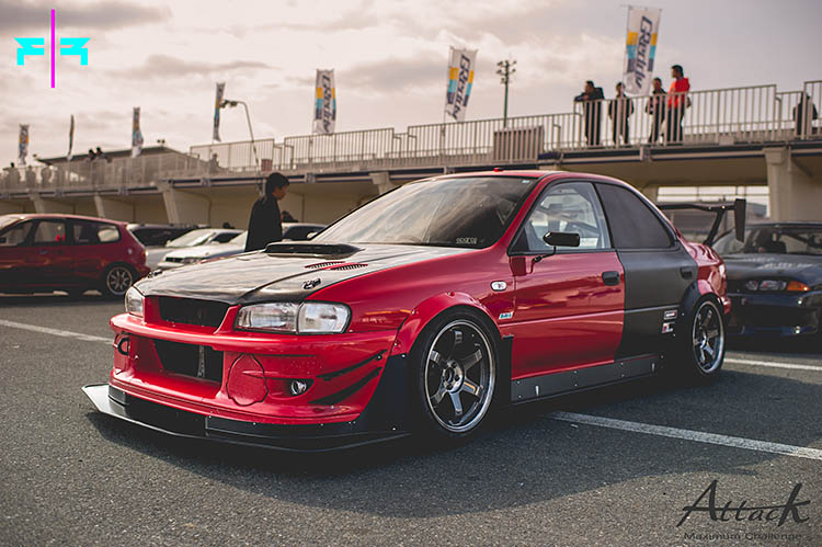 red time attack widebody aero