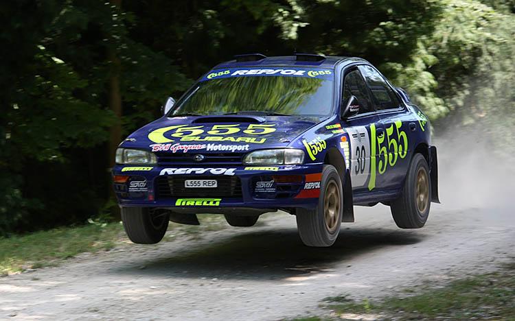 subaru 555 rally car jump goodwood off road