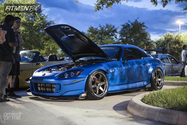 blue s2000 honda bc racing coilovers volk te37sl gunmetal
