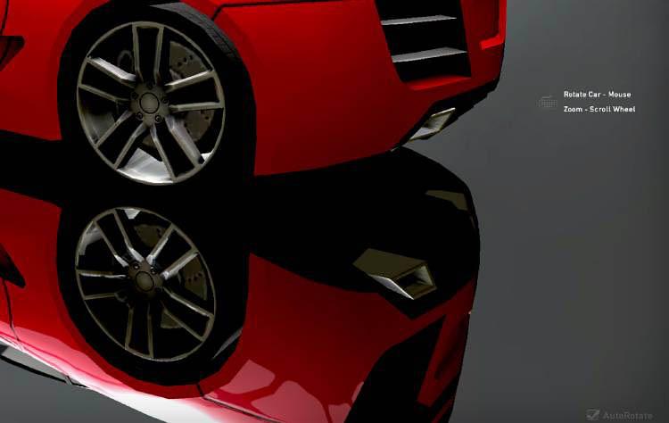rotate move car red lexus lfa audi r8